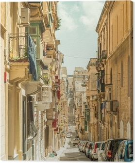Narrow street in Malta Canvas Print