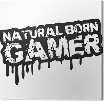 Natural Born Gamer Stempel Graffiti Canvas Print
