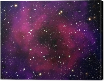Nebula and star in the space area Canvas Print