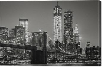 New York City by night Canvas Print