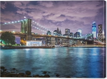 New York City lights Canvas Print