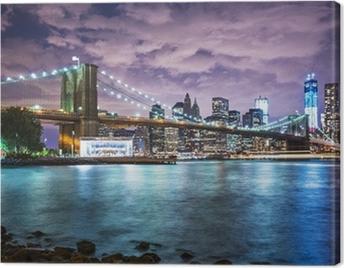 New York City lights Canvas Print