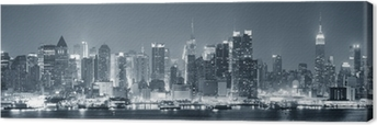 New York City Manhattan black and white Canvas Print