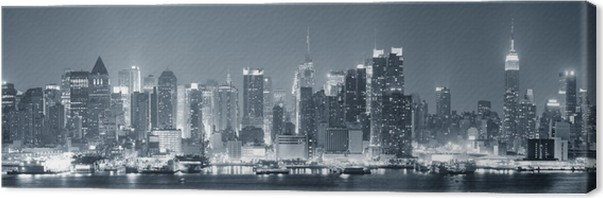 New york city manhattan black and white canvas print themes