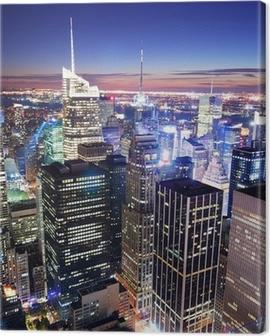 New York City Manhattan Times Square skyline Canvas Print