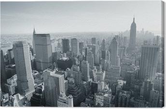 New York City skyline black and white Canvas Print