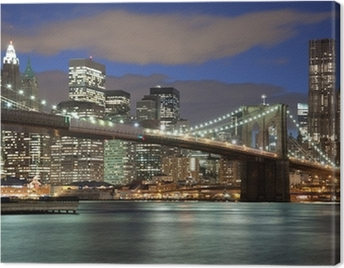 New York City skyline- Brooklyn Bridge Canvas Print