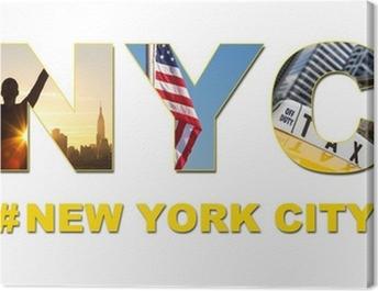 New York City Taxi Cab Tourist Travel Canvas Print