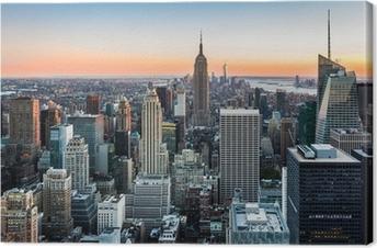 New York skyline at sunset Canvas Print