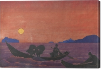 Nicholas Roerich - And We Continue Fishing Canvas Print