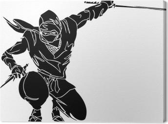 Ninja fighter - vector EPS illustration. All vinyl-ready. Canvas Print