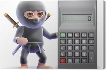 Ninja is calculating Canvas Print