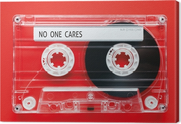 No one cares Canvas Print - Demotivational