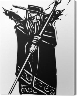 Norse God Odin Canvas Print