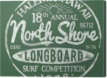 North Shore Surf Themed Vintage Design Canvas Print