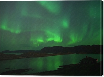 Northern lights over Northcape. October 08, 2013 Canvas Print