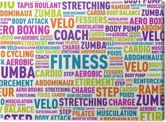 nuage de mots fitness Canvas Print