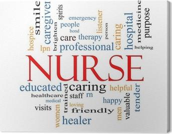 Nurse Word Cloud Concept Canvas Print
