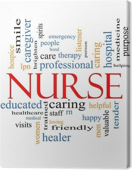 Nurse Word Cloud Concept Canvas Print