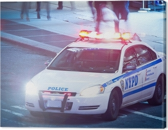 NYPD Polizeiauto Canvas Print