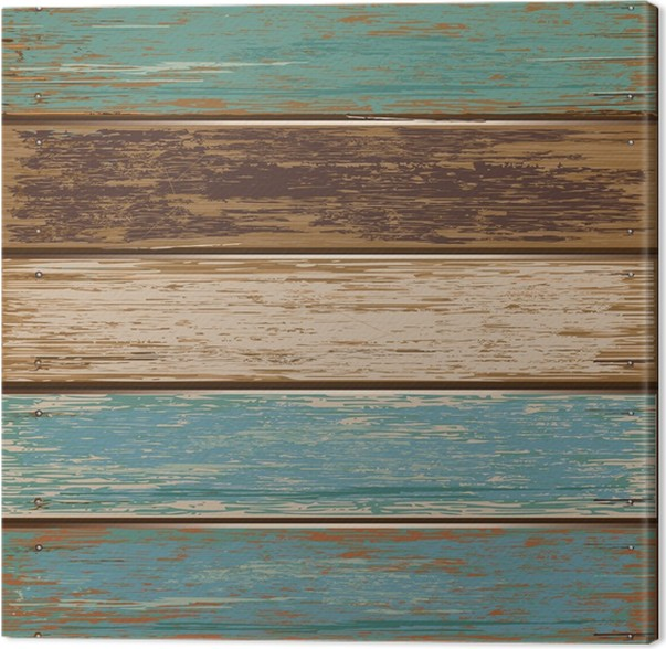 Old Color Wooden Texture Background Vector Illustrator Canvas Print