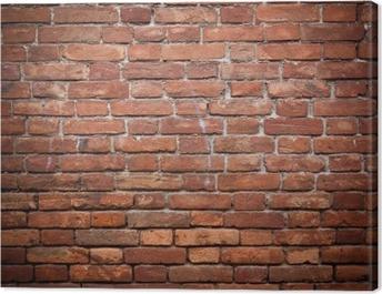 Old grunge red brick wall texture Canvas Print