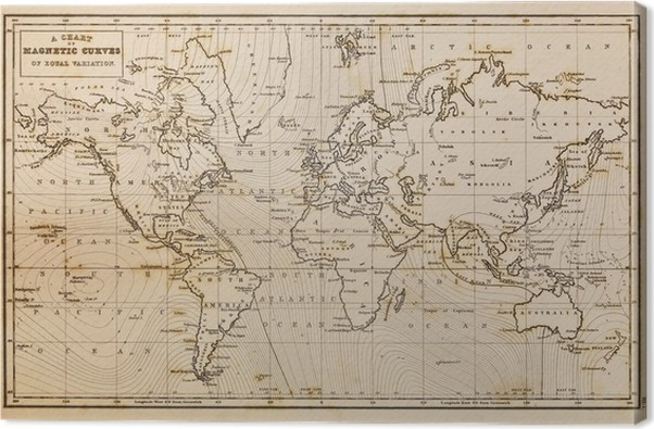 Old Hand Drawn Vintage World Map Canvas Print Pixers We Live To - Vintage looking world map