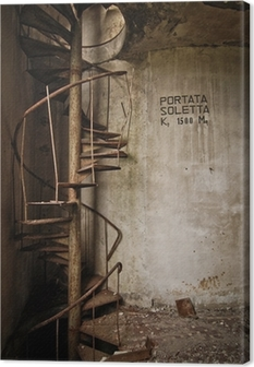 old iron stair Canvas Print