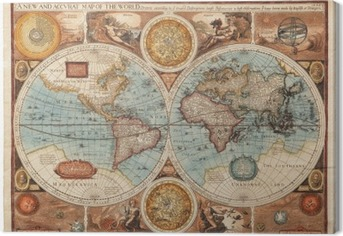 Old map (1626) Canvas Print