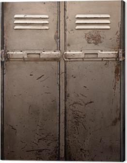 Old metal locker Canvas Print
