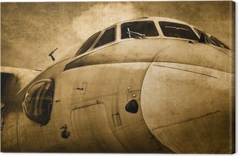 Old military aircraft Canvas Print