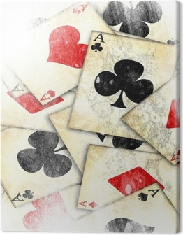 old playing card Canvas Print