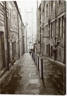 Old streets of Edinburgh Canvas Print