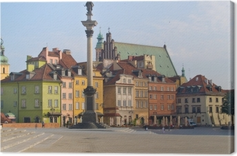 Old town square, Warsaw, Poland Canvas Print