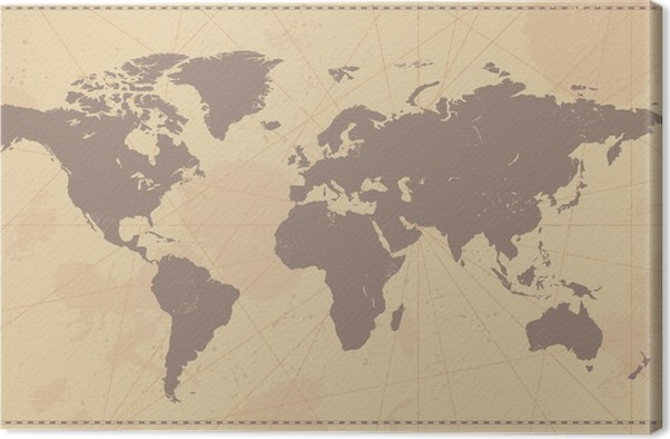 Old vintage world map canvas print pixers we live to change old vintage world map canvas print themes gumiabroncs Images