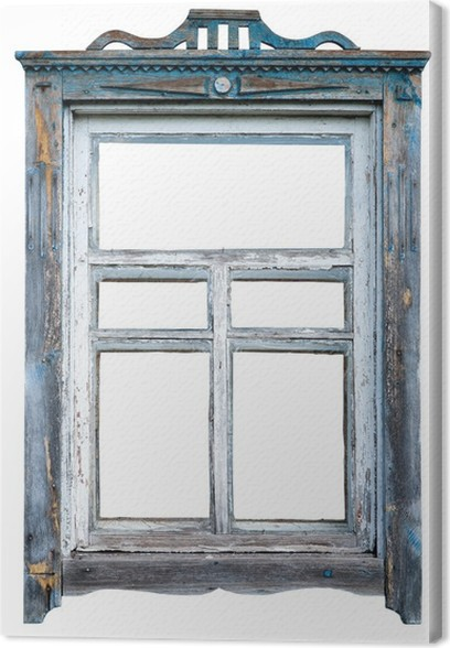 Old window frame Canvas Print • Pixers® • We live to change