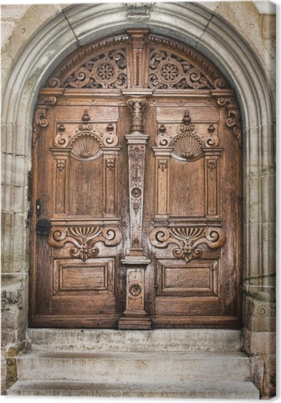 old wooden church door Canvas Print - Europe & old wooden church door Canvas Print u2022 Pixers® u2022 We live to change