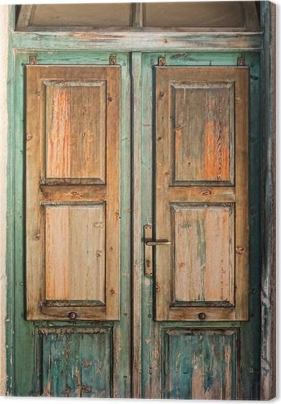 Old wooden door Canvas Print - & Old wooden door Canvas Print u2022 Pixers® u2022 We live to change