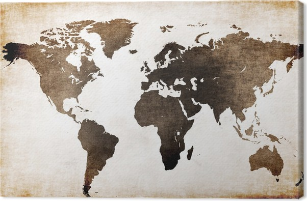 Old world map Canvas Print • Pixers® • We live to change