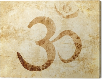 Om symbol Canvas Print