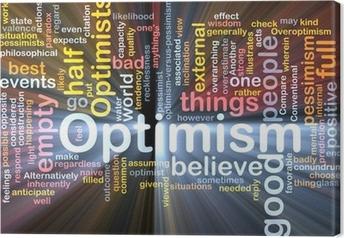 Optimism word cloud glowing Canvas Print