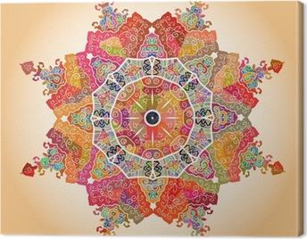 Oriental mandala motif Canvas Print