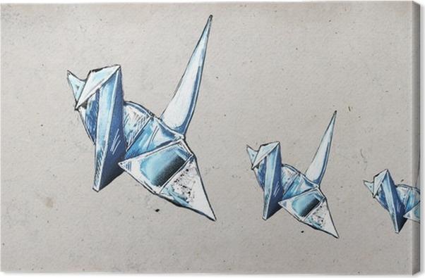 Origami Cranes Canvas Print Pixers We Live To Change