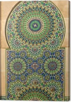Ornate mosaic on a Moroccan mosque Canvas Print