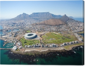 overall aerial view of Cape Town, South Africa Canvas Print