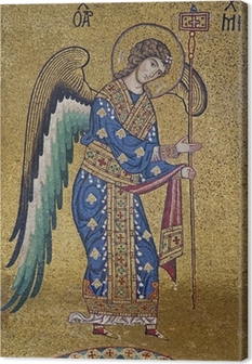 Palerno - Mosaic of Archangel Michael in La Martorana Canvas Print