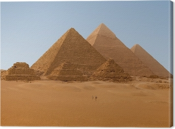 Panaromic view of six Egyptian pyramids in Giza, Egypt Canvas Print