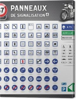 Panneaux de signalisation routière #4 Canvas Print