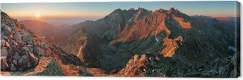 Panorama mountain autumn landscape Canvas Print