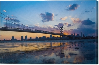 Panorama of Philadelphia skyline Canvas Print